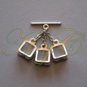 Caireles Estribo Brillo 3 piezas (pack 10 uds)