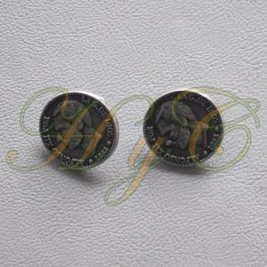 Caireles Botón Plata Vieja  1 pieza (pack 10 uds)