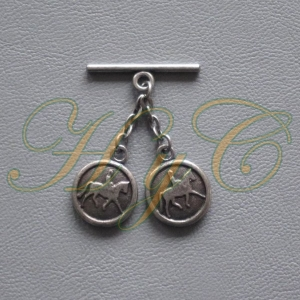 Caireles Cabeza Circulo Plata Vieja  2 piezas (pack 10 uds)
