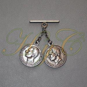 Caireles Moneda Plata Vieja  2 piezas (pack 10 uds)
