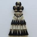 Mosquero Vaquero 35 Borlas de Cerda Natural. Color Blanco y Negro