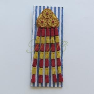 Mosquero Vaquero Piel Ternera. Color Rojo y Amarillo