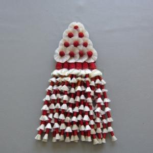 Mosquero Vaquero seda sintética color rojo y blanco
