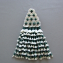 Mosquero Vaquero seda sintética Color verde y blanco