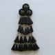 Mosquero Vaquero Cerda Natural 25 Borlas Color Negro