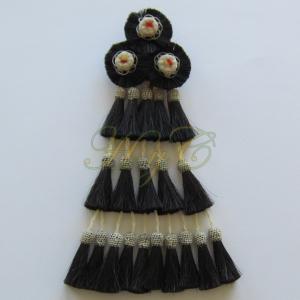 Mosquero Vaquero 20 Borlas Cerda Natural. Color Negro