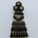 Mosquero Vaquero 35 Borlas de Cerda Natural. Color negro