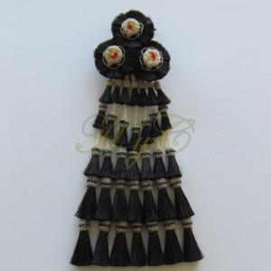 Mosquero Vaquero 35 Borlas Cerda Natural Color negro