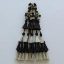 Mosquero Vaquero 30 Borlas de Cerda Natural. Color negro y blanco