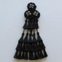 Mosquero Vaquero 30 Borlas de Cerda Natural. Color negro