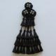 Mosquero Vaquero 30 Borlas Cerda Natural Color negro
