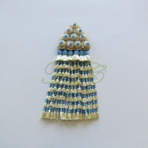 Mosquero Vaquero Seda Natural Azul Celeste