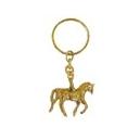 Llavero caballo pequeño con cadena fabricado de bronce