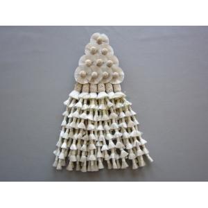 Mosquero vaquero seda sintética color blanco y beige