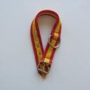 Collar para perros bandera 4 cm de ancho y 60 a 65 cm de largo. Fabricado nylon