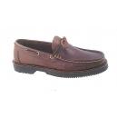 Zapato piel modelo apache con lazo piso goma