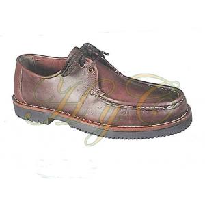 Zapato Piel Mod Apache Cordones Piso Goma