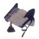 Llavero silla vaquera colgante color negro