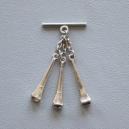 Caireles Clavo Niquel 2 piezas (pack 10 uds)