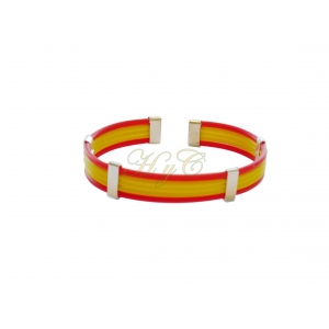 Pulsera bandera caucho 5 cuerdas piano color rojo