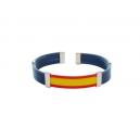 Pulsera bandera caucho 5 cuerdas color azul marino