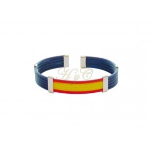 Pulsera bandera caucho 5 cuerdas piano color azul marino
