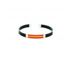 Pulsera bandera 3 cuerdas caucho color negro