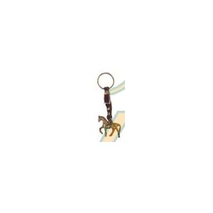 Llavero caballo pequeño bronce correilla hebilla
