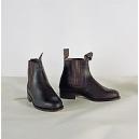 Botin de caucho piso liso color negro nº 36 al 44
