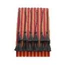 Clinera fabricada cerda natural 3 piezas color negro 6 uds con trenza