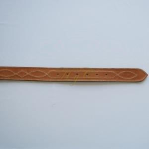 Cinturón Liso Dibujo Piel Vaqueta color avellana