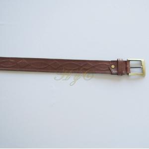 Cinturón Liso Dibujo Piel Vaqueta color marrón