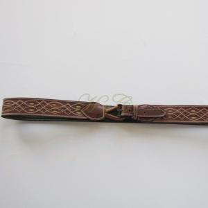Cinturón Señora Baticola picado Vaqueta color Marrón