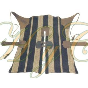 Zahón de paño con referzos en piel 85 Cm largo