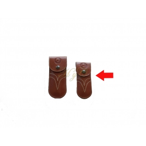 Funda navaja mediana piel broche avellana