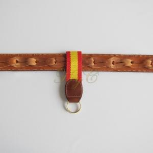 Llavero Cinturón Naylon Bandera Marrón