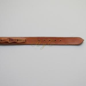 Cinturón Cadeneta Piel Vaqueta color avellana