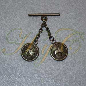 Caireles Caballo y Jinete Bronce 2 piezas (pack 10 uds)