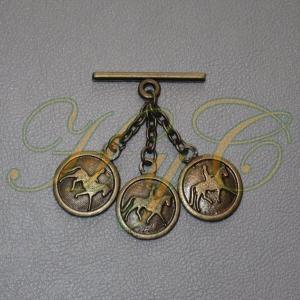 Caireles Caballo y Jinete Bronce 3 piezas (pack 10 uds)