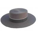 Sombrero Cordobes Ala Ancha Lana 100% Color Uranio