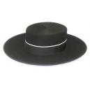 Sombrero Cordobes Ala Ancha Lana 100% Color Negro