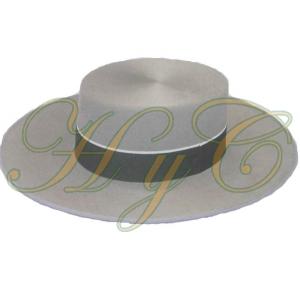 Sombrero Cordobes Ala Ancha Lana 100% Color Gris