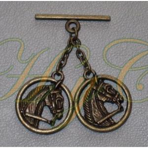 Caireles Cabeza Circulo Bronce 2 piezas (pack 10 uds)