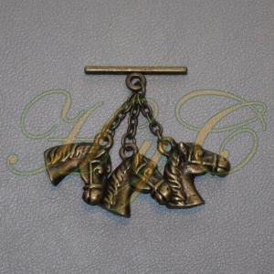 Caireles Cabeza Caballo Bronce 3 piezas (pack 10 uds)