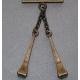 Caireles Clavo Bronce 2 piezas (pack 10 uds)