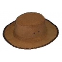 Sombrero caceria piel serraje color marrón