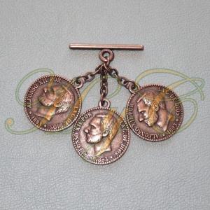 Caireles Moneda Cobre 3 piezas (pack 10 uds)