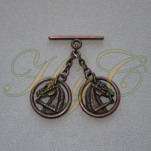 Caireles Cabeza Circulo Cobre 2 piezas (pack 10 uds)