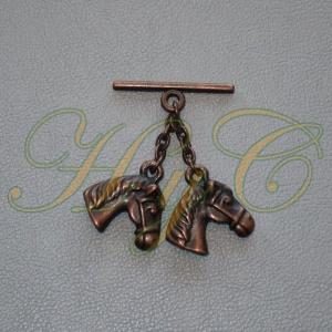 Caireles Cabeza Caballo Cobre 2 piezas (pack 10 uds)